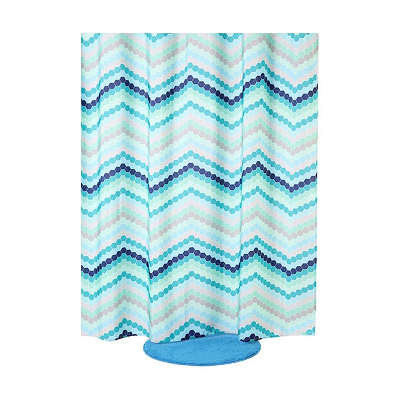 Fantasy Textile Polyester Milan Shower Curtain Tirai Kamar Mandi