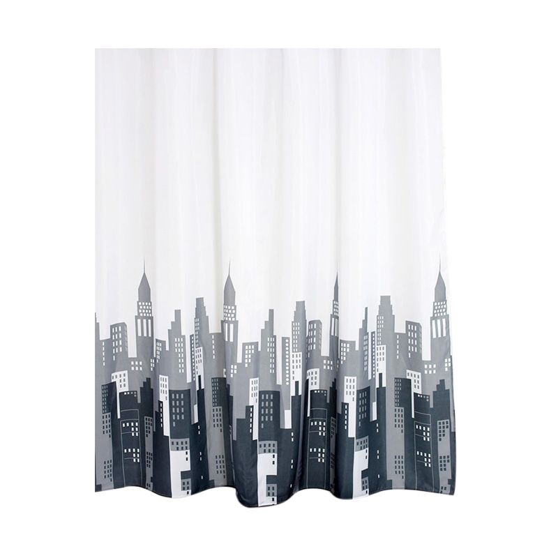 Fantasy Textile Polyester My Sky Multicolor Shower Curtain Tirai Kamar Mandi