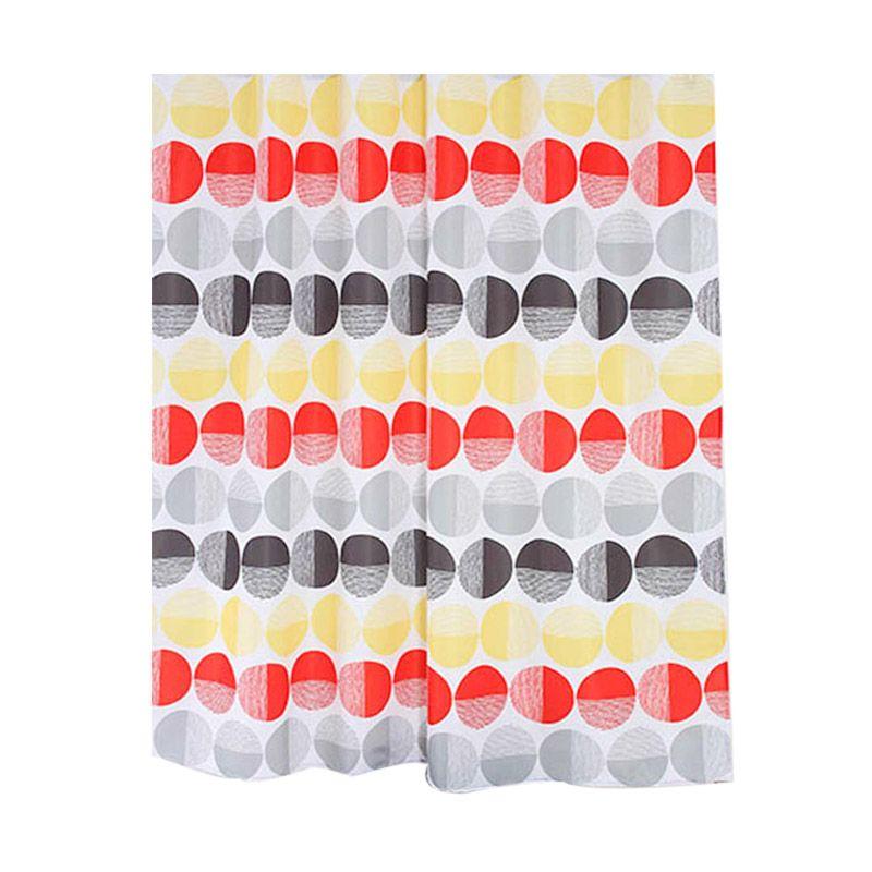 Fantasy Textile Polyester Nemo Multicolor Shower Curtain Tirai Kamar Mandi