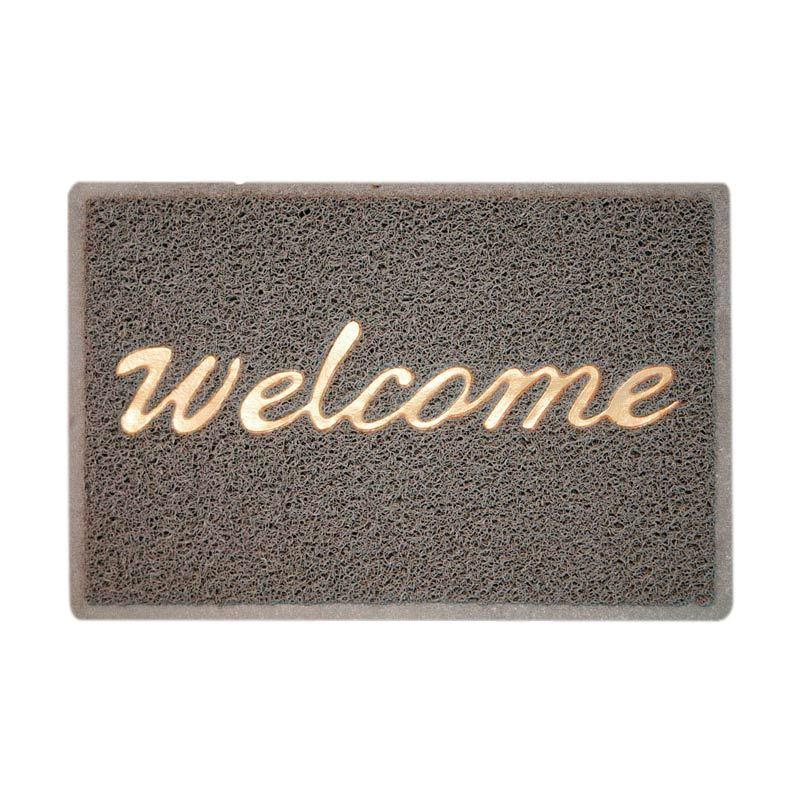 Fantasy Welcome Grey Doormat [45X75 cm]
