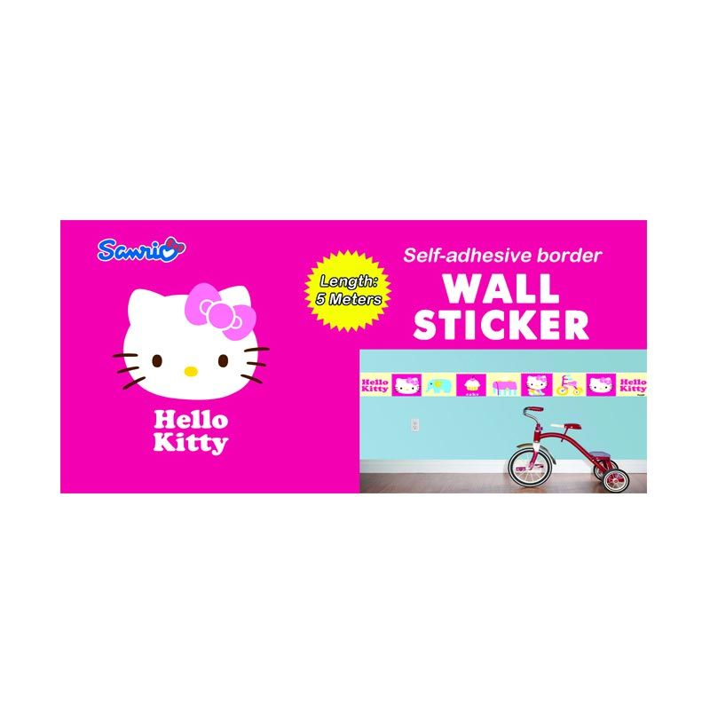 Sanrio Border Wall Sticker Cupcake
