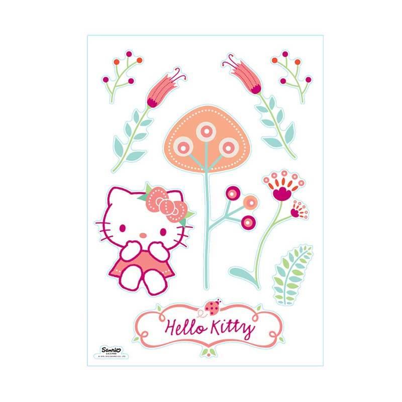 Sanrio Wall Sticker Kitty Mushroom