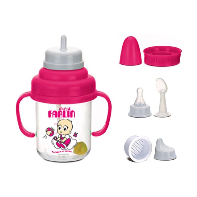 Farlin 5 In 1 Training Cup (150cc) Pink