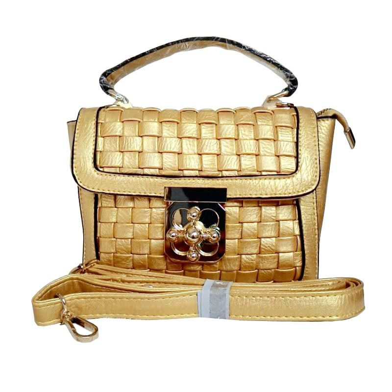 You've 8001-1 Mini Square Gold Tas Tangan