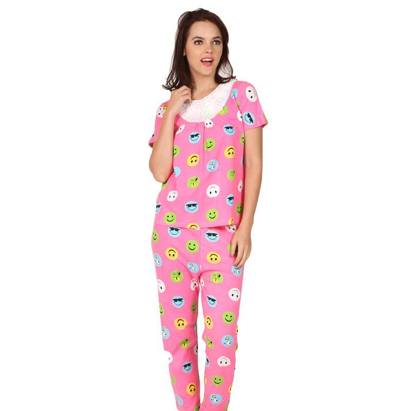 You've Smiley Lace Sleepwear Pink Baju Tidur