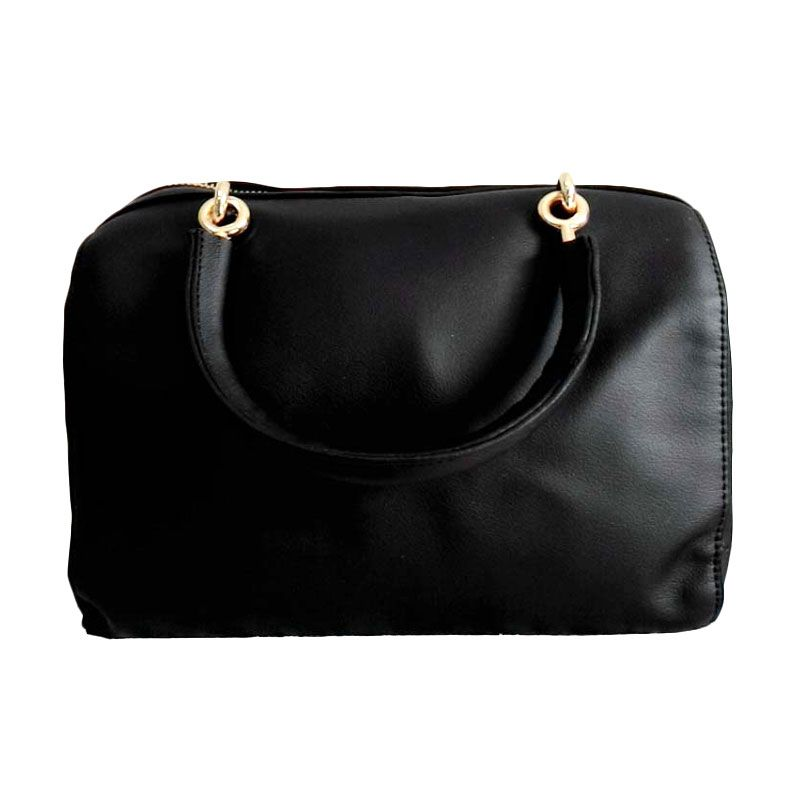 You've 6019 Mini Plain Black Tas Tangan