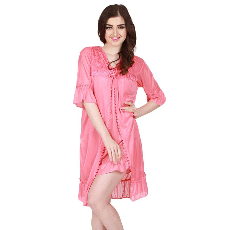 You've - Andrea Lace Sleepwear Pink Fanta