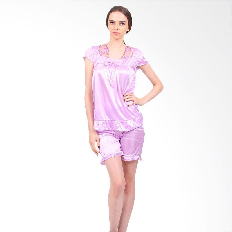 You've Deasy Bow Sleepwear Purple Baju Tidur Wanita