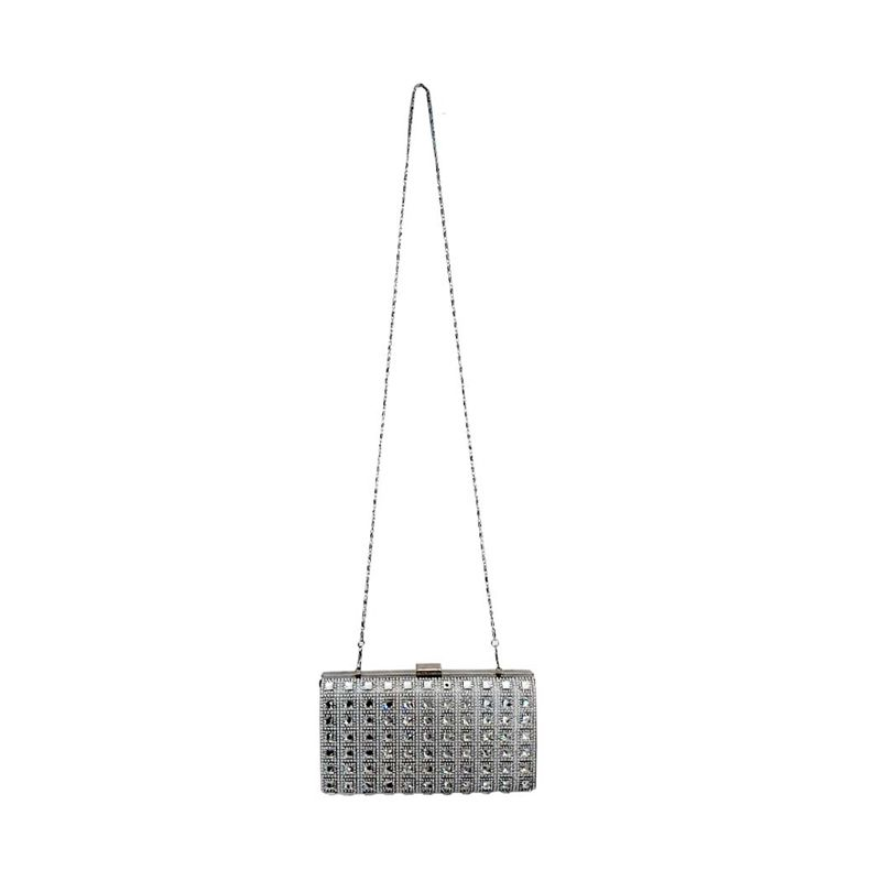 You've Gemstone Square J003 Metalic Silver Tas Selempang