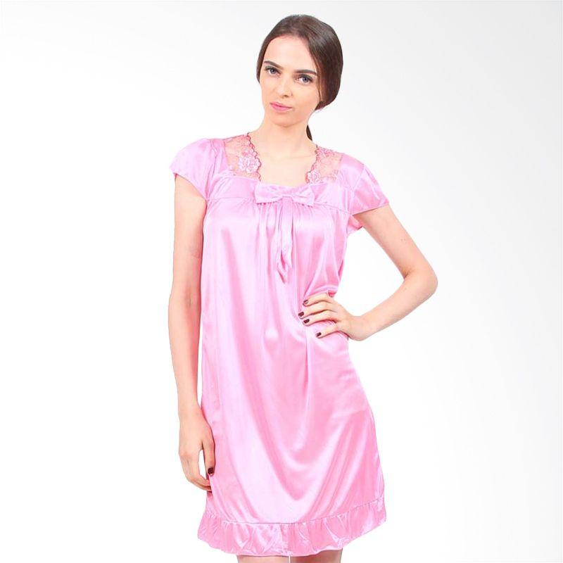 You've Lacey Bow Sleepwear Pink Baju Tidur Wanita