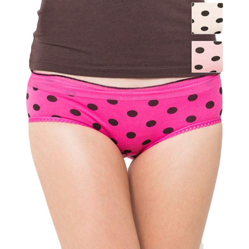 You've Polka Lace Pant Mix Colour Celana Dalam [3 Pcs]