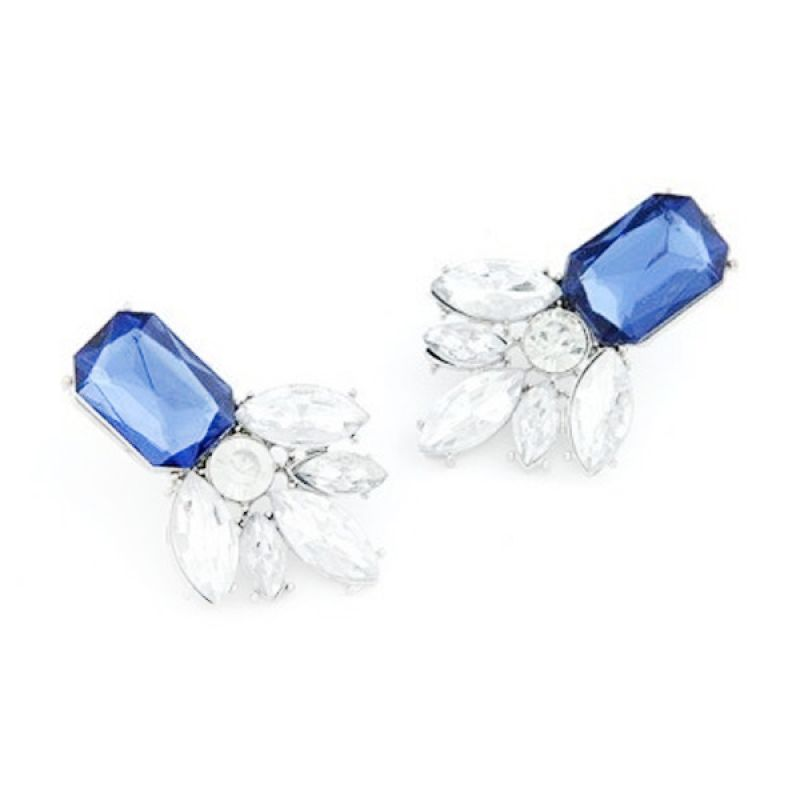 Fashion Geometric Saphire KE33034 Blue  Anting