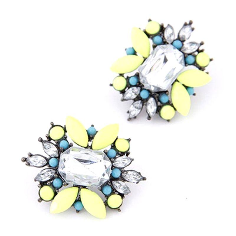 Fashionista Korea Diamond Flower KE37222 Anting