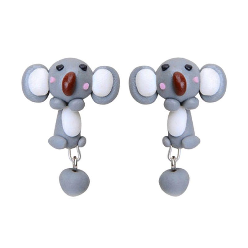 Fashionista Clay Cute Elephant KE50763 Gray Anting