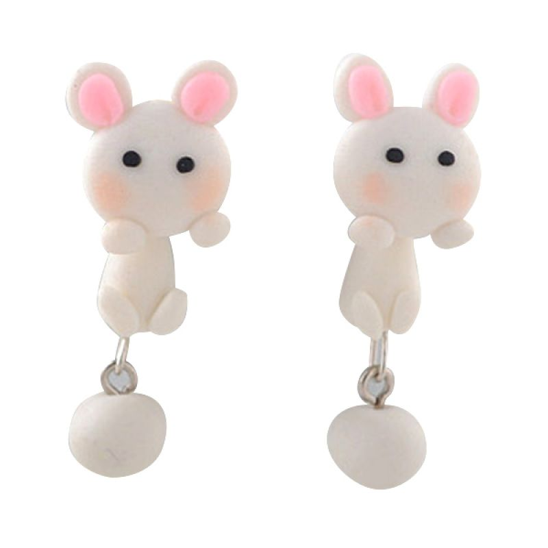 Fashionista Clay Cute Rabbit KE50765 White Anting
