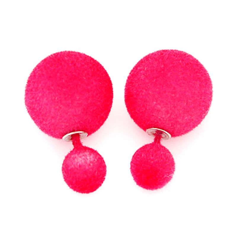 Fashionista Dior KE37444 Plum Red Velvet Anting