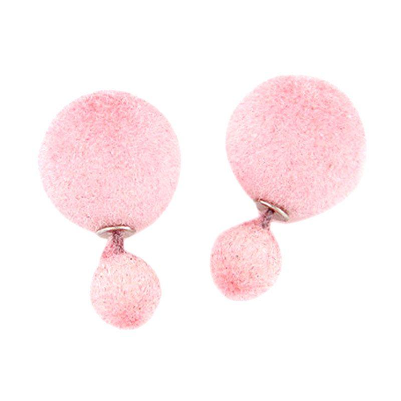 Fashionista Dior KE37446 Pink Velvet Anting