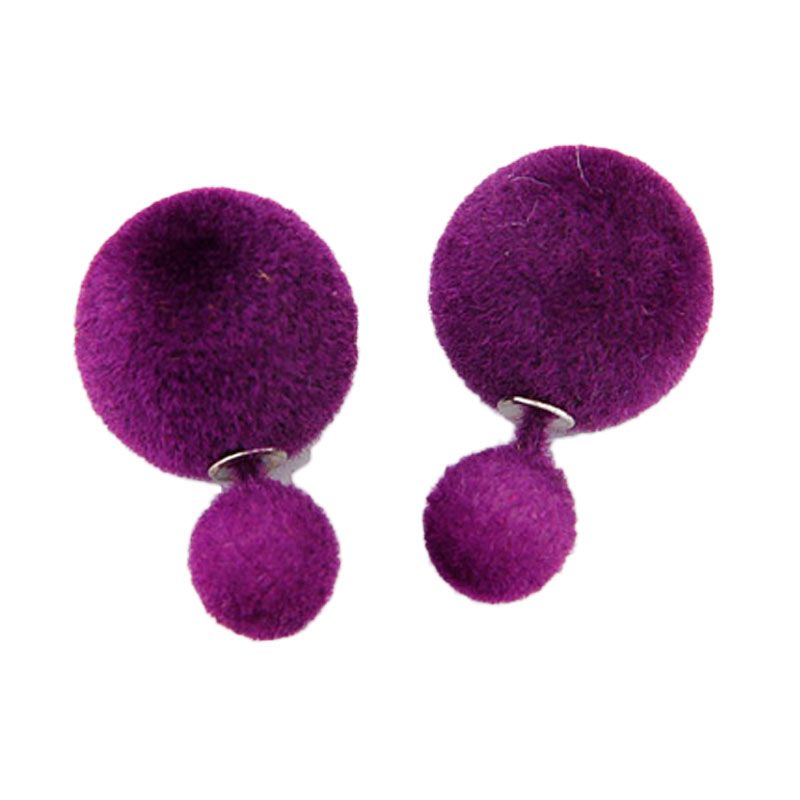 Fashionista Dior KE37447 Dark Purple Velvet Anting
