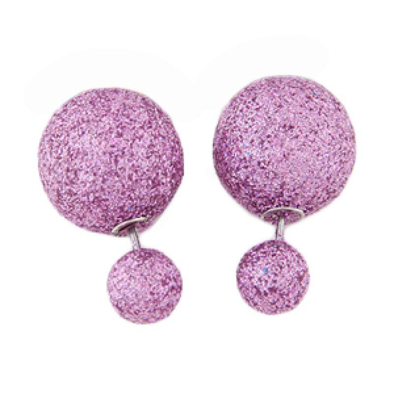 Fashionista Dior KE37450 Purple Beads Anting