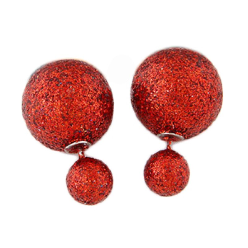 Fashionista Dior KE37452 Red Beads Anting