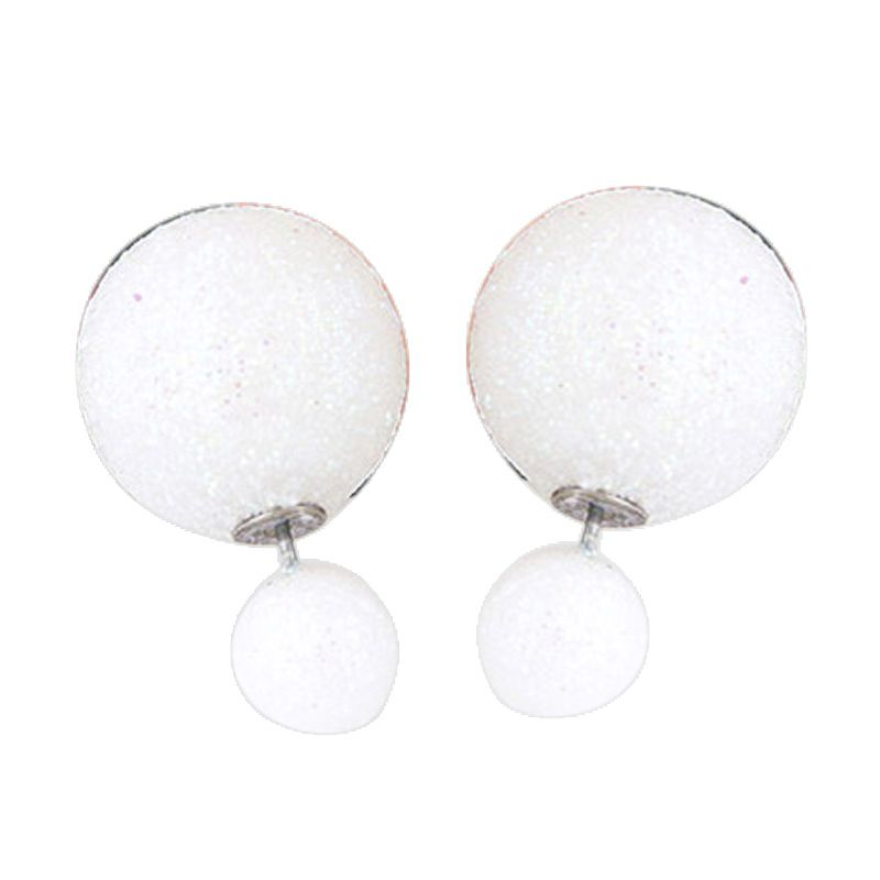 Fashionista Dior KE37463 White Beads Anting