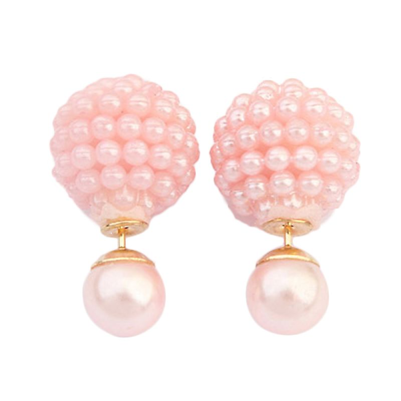 Fashionista Dior Small Pearl KE53501 Pink Anting