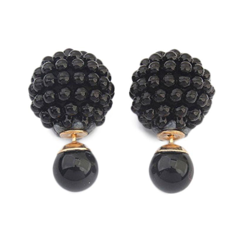 Fashionista Dior Small Pearl KE53502 Black Anting
