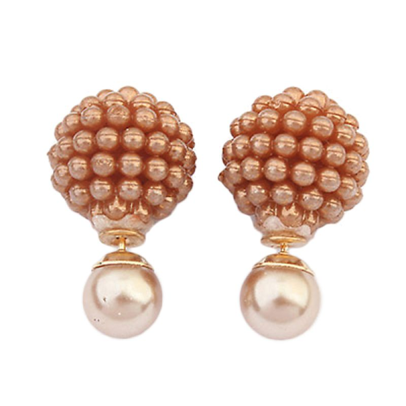 Fashionista Dior Small Pearl KE53505 Coffee Anting