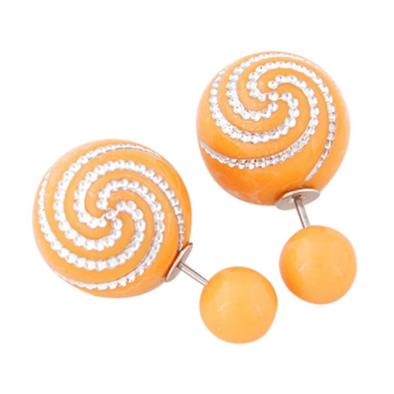 Fashionista Dior Spiral KE38601 Orange Anting