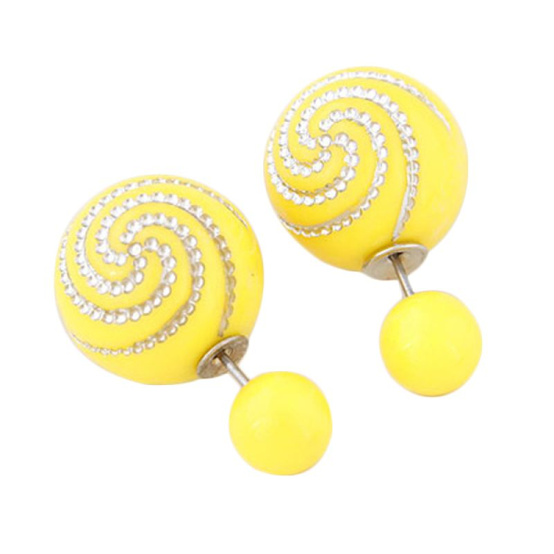 Fashionista Dior Spiral KE38604 Yellow Anting