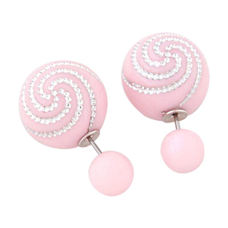 Fashionista Dior Spiral KE38605 Pink Anting