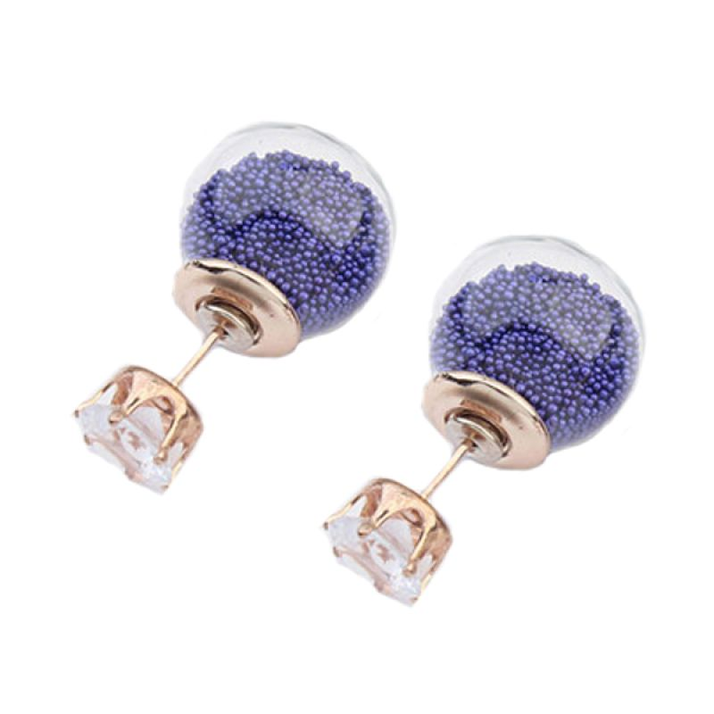 Fashionista Dior Sweet Beads KE54032 Purple Anting
