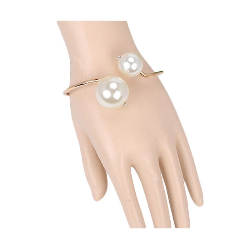 Fashionista Korea Double Pearl KB13603 Gelang