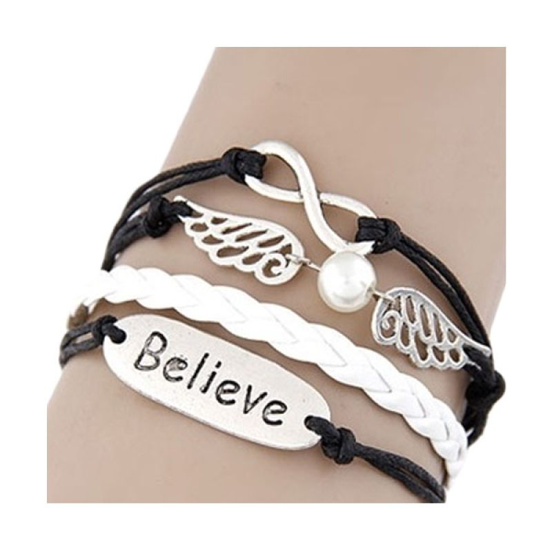 Fashionista KB32071 Korea Multicharm Wing Believe Gelang