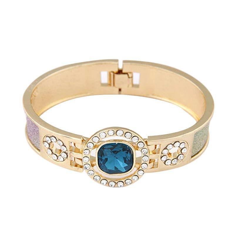 Fashionista KB36174 Bangle Korea Blue Gemstone Round Shape Gelang