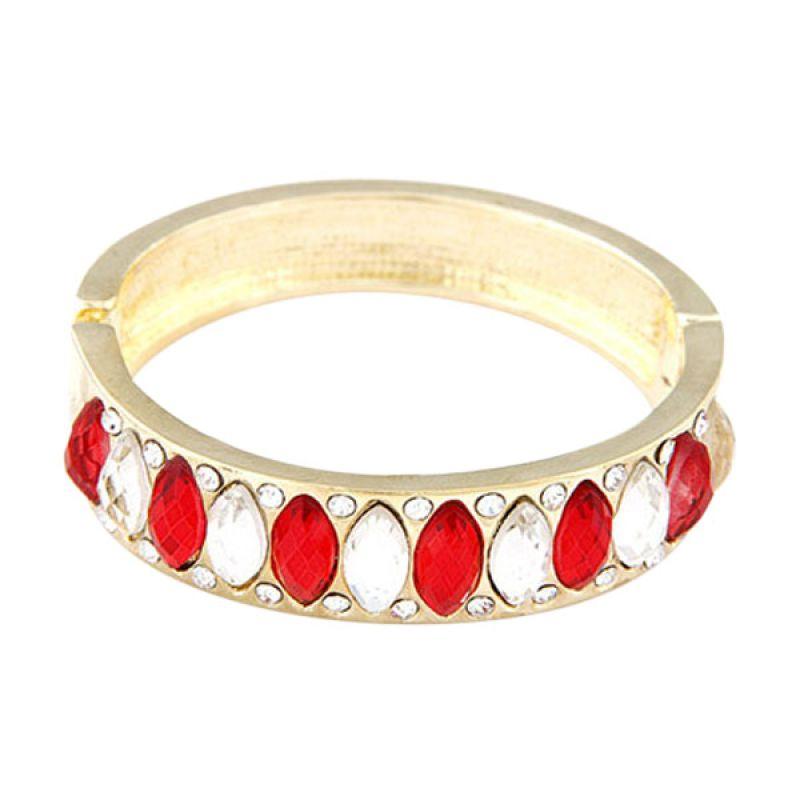 Fashionista Bangle Korea Diamond KB36175 Red Gelang