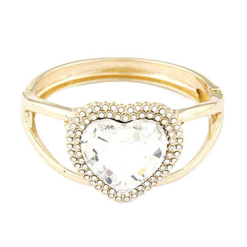 Fashionista KB36179 Bangle Korea Gold Color Heart Shape Gelang