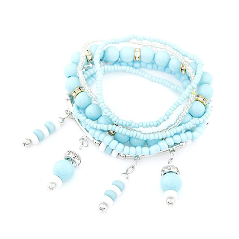 Fashionista KB36273 Korea Multilayer Blue Gelang