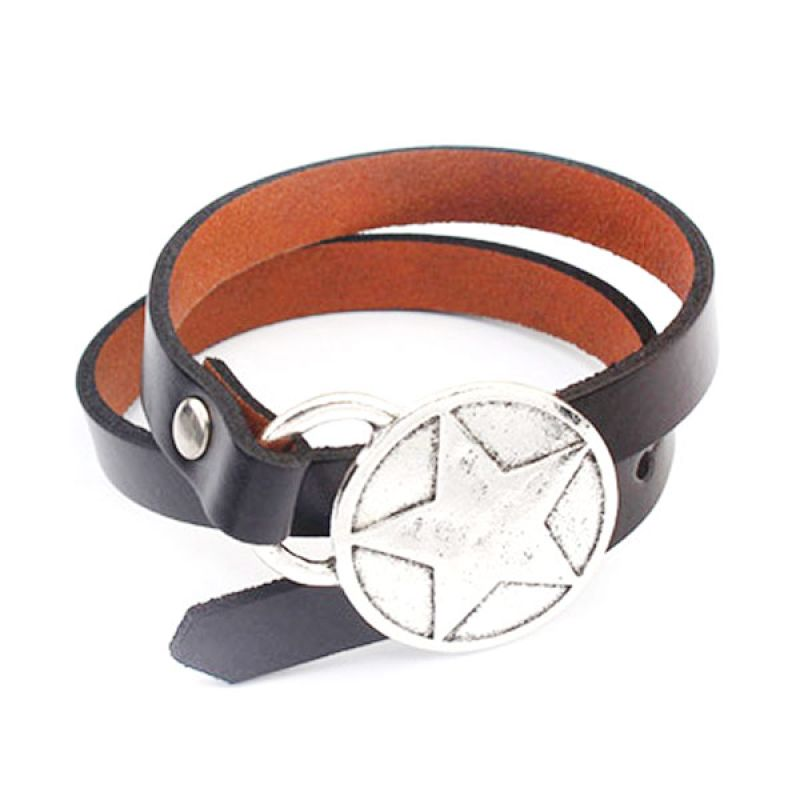 Fashionista KB53574 Korea Denim Star Black Gelang