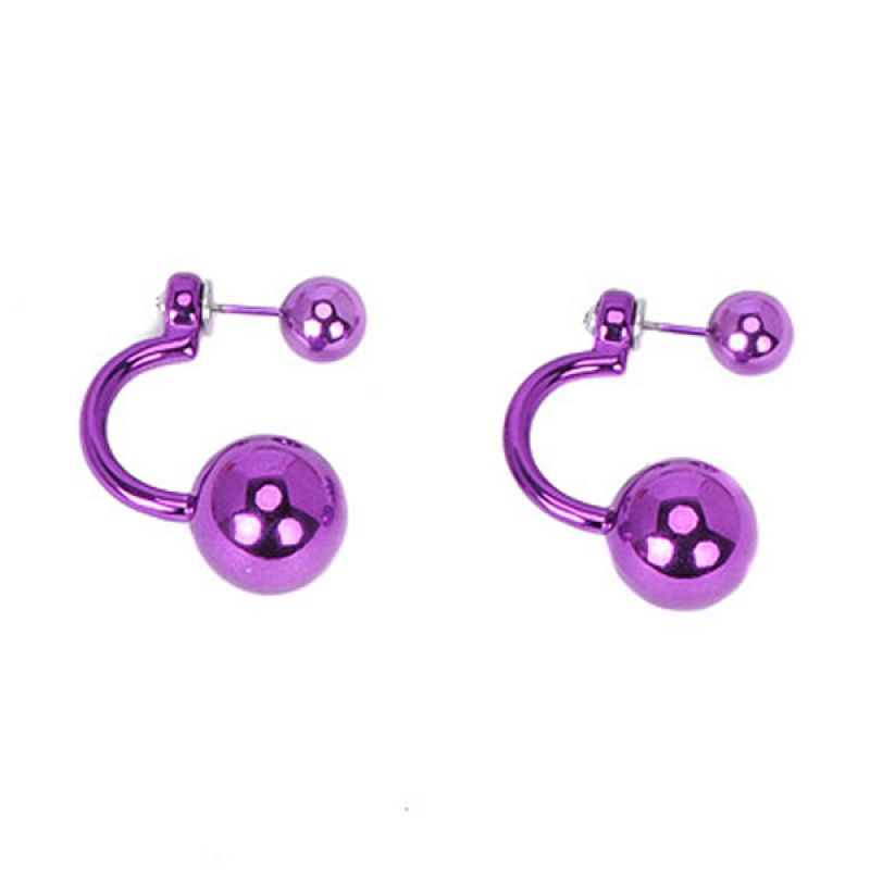 Fashionista KE13720 Korea Curve Pearl Purple Anting