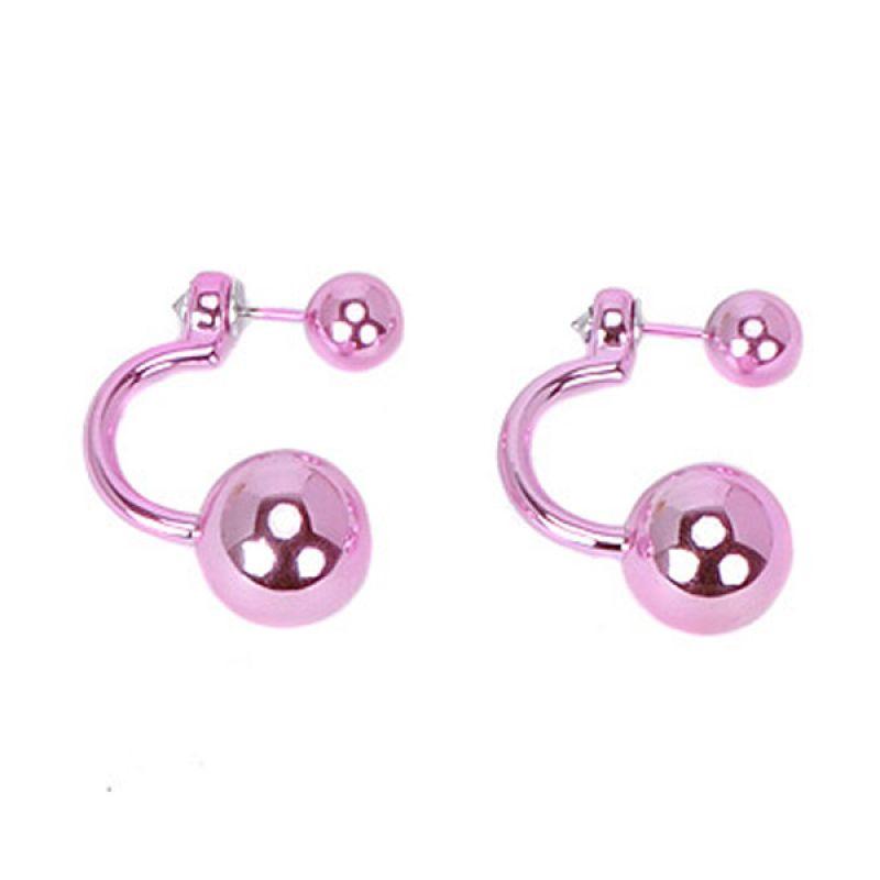 Fashionista KE13722 Korea Curve Pearl Pink Anting
