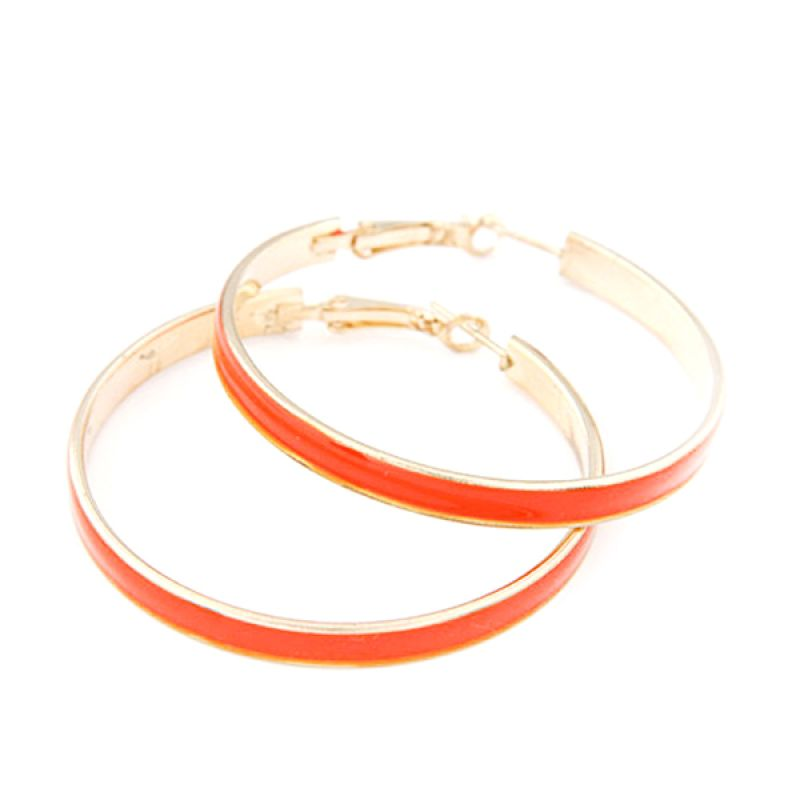 Fashionista KE36100 Korea Large Circle Orange Anting