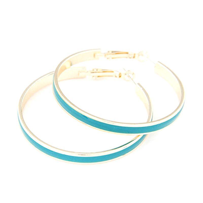 Fashionista KE36118 Korea Large Circle Blue Anting