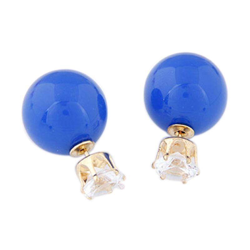 Fashionista KE36505 Korea Dior Pearl Blue Crown Anting