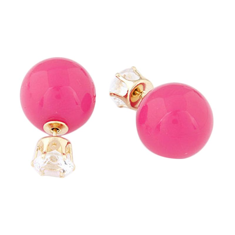 Fashionista KE36506 Korea Dior Crown Pearl Plum Red Anting