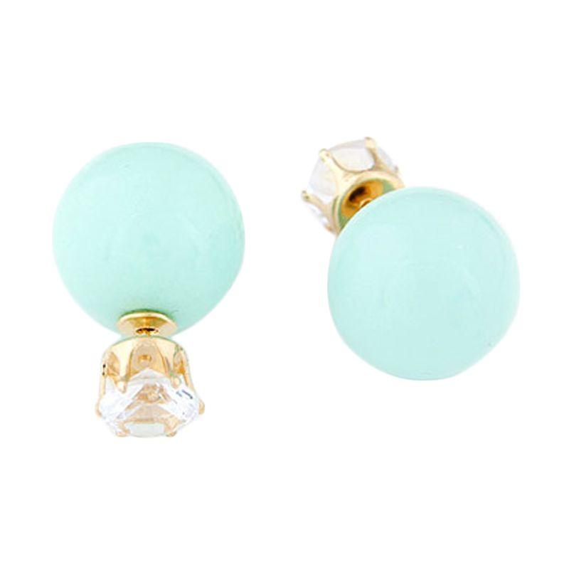 Fashionista KE36517 Korea Dior Crown Pearl Light Blue Anting