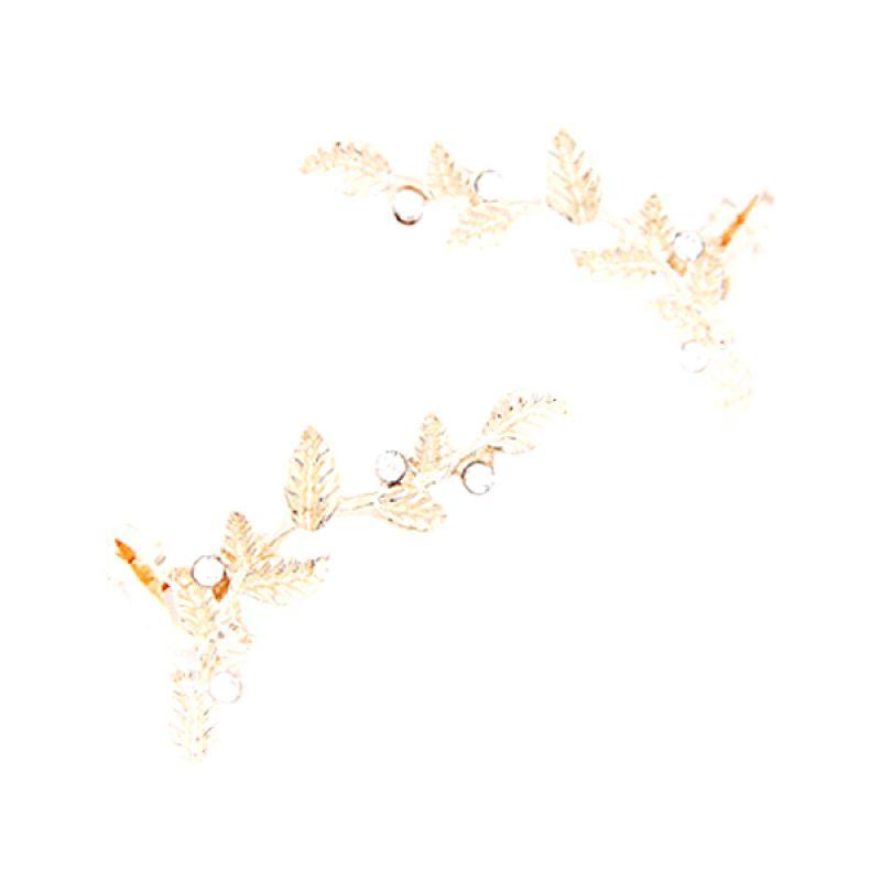 Fashionista Korea KE37141 Leaf Gold Anting