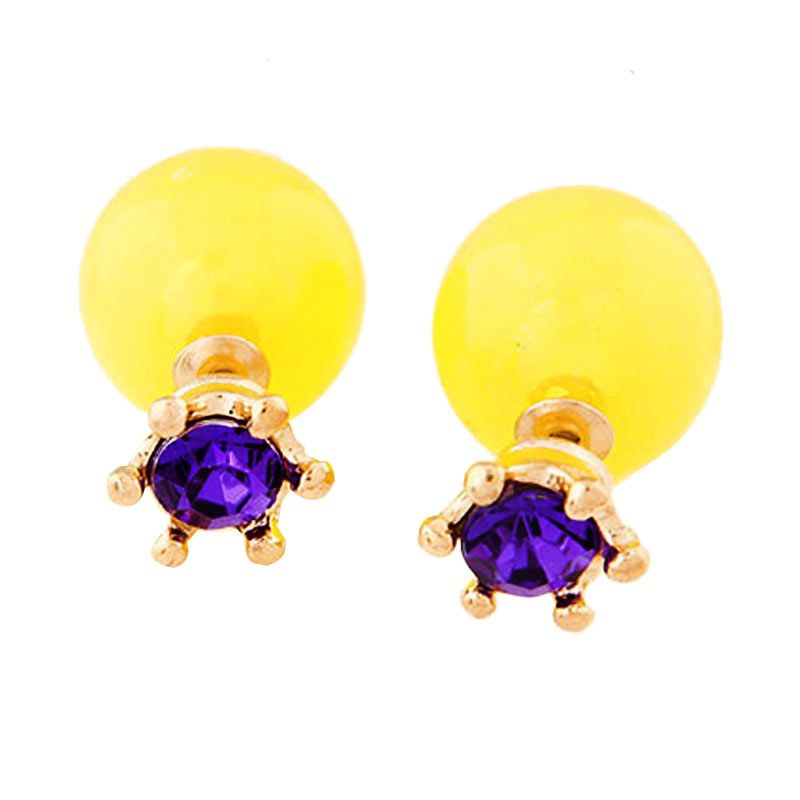 Fashionista KE37348 Dior With Purple Crown Yellow Anting