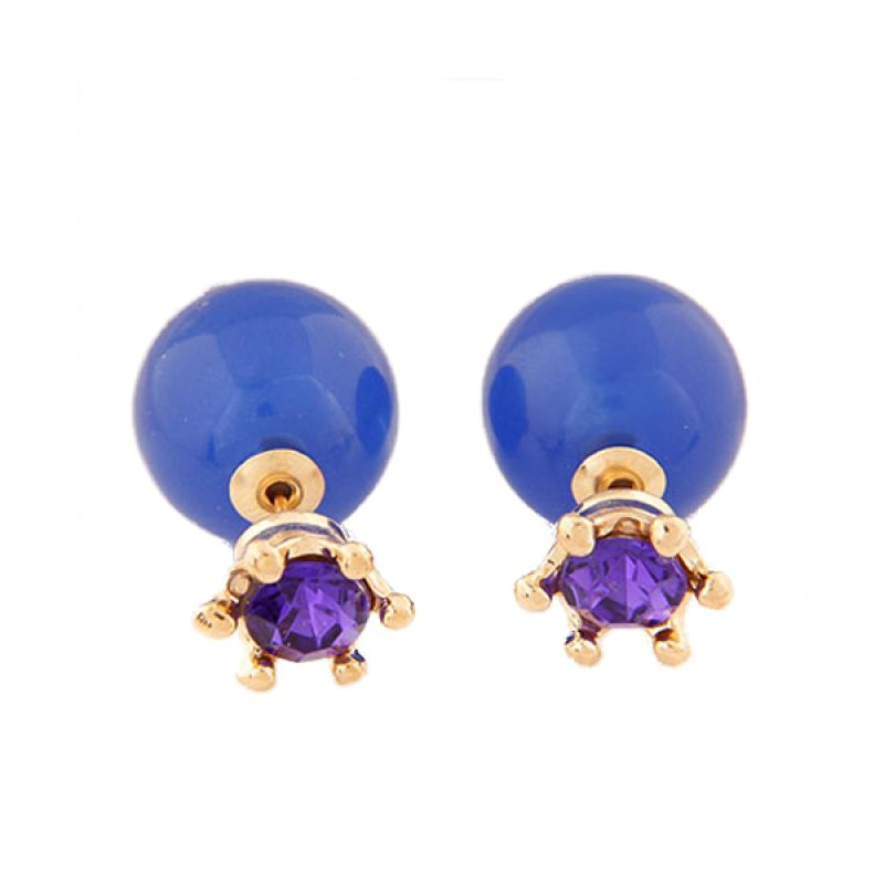 Fashionista KE37350 Dior With Purple Crown Saphire Blue Anting