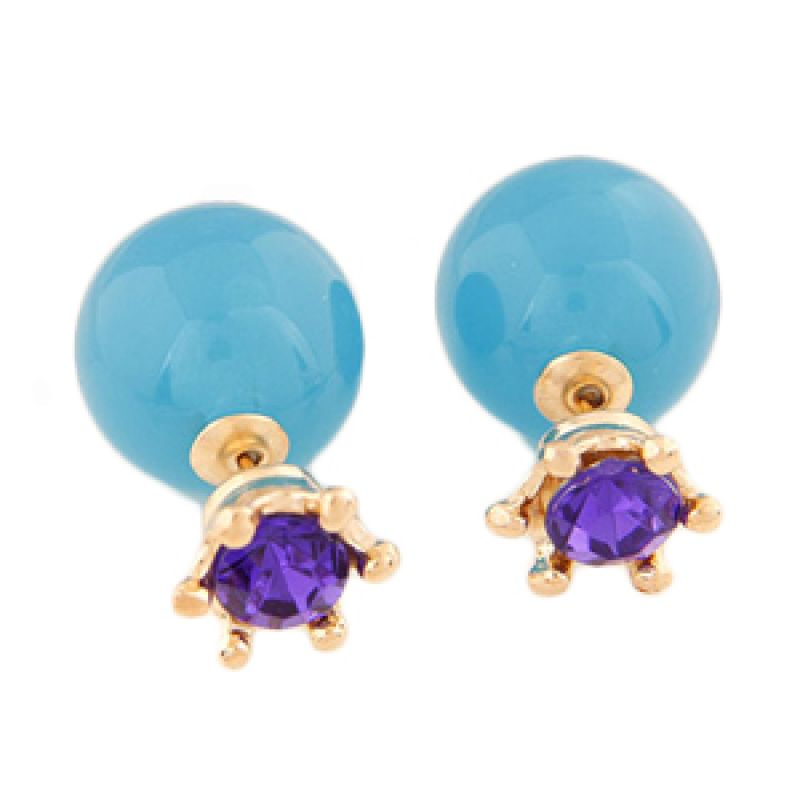 Fashionista KE37365 Dior Purple Crown Blue Anting